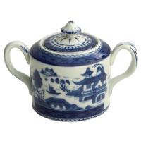 Blue Canton Sugar Bowl & Cover | Gracious Style