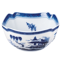 Blue Canton Large Square Bowl | Gracious Style