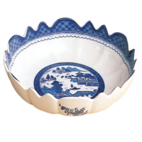 Blue Canton Scalloped Bowl | Gracious Style