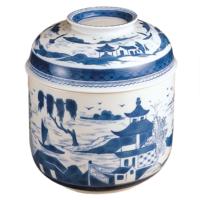 Blue Canton Temple Jar | Gracious Style