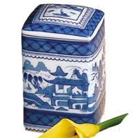 Blue Canton Square Box & Cover | Gracious Style