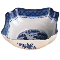 Blue Canton Small Square Bowl | Gracious Style