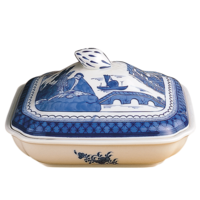 Blue Canton Sq Veg Bowl &Cover | Gracious Style