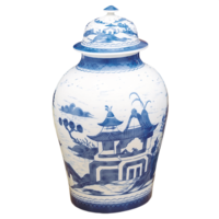 Blue Canton Ginger Jar & Cover | Gracious Style