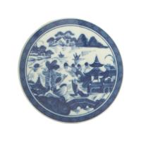 Blue Canton Round Tile | Gracious Style