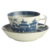 Blue Canton Large Cup& Saucer | Gracious Style