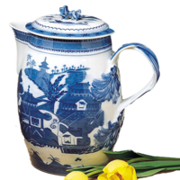 Blue Canton Cider Jug & Cover | Gracious Style