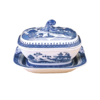 Blue Canton Sauce Tureen&Stand | Gracious Style