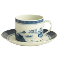 Blue Canton Can Tea Cup & Saucer | Gracious Style