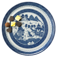 Blue Canton Cake Plate | Gracious Style