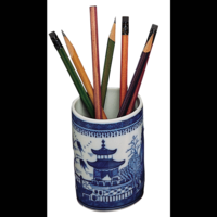 Blue Canton Pencil Cup | Gracious Style