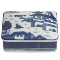 Blue Canton Rectangular Box Medium | Gracious Style