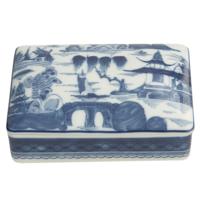 Blue Canton Large Rectangular Box | Gracious Style