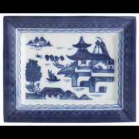 Blue Canton Large Rectangular Tray | Gracious Style