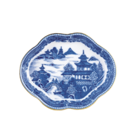 Blue Canton Small Lobed Tray | Gracious Style