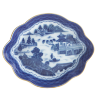 Blue Canton Med Lobed Tray | Gracious Style