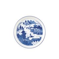 Blue Canton Medium Round Tray | Gracious Style
