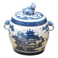 Blue Canton Small Fu Dog Jar | Gracious Style