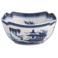Blue Canton Large Sq Bowl Decorated | Gracious Style