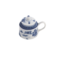 Blue Canton Mustard Pot & Lid | Gracious Style