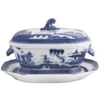 Blue Canton Octag Tureen&Stand | Gracious Style
