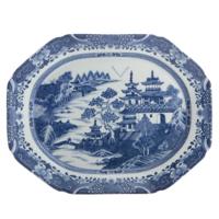 Blue Canton 13 Medium Platter | Gracious Style