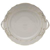 Golden Edge Chop Plate W/Handles 12