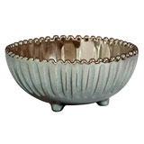 Incanto Metallic Stripe Footed Bowl | Gracious Style