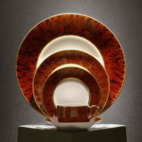 Tortoise Gold Finition & Au Naturel: Unique Hand-Glazed Dinnerware From Jaune de Chrome ...