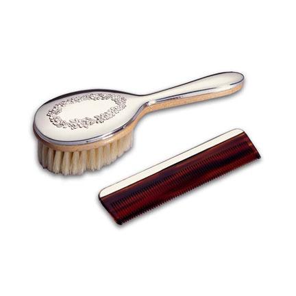Floral Brush & Comb Set