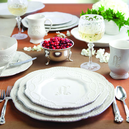 Legado Monogrammed Dinnerware & A Personal Touch: Legado Monogrammed Dinnerware | Gracious Style Blog