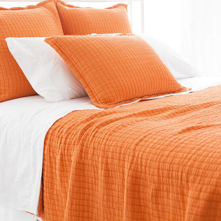 Lovely Boyfriend Orange Matelasse Coverlet King | Gracious Style