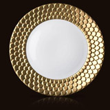 Aegean Sculpted Gold Charger 12 in | Gracious Style