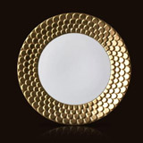 Aegean 24kt Gold Sculpted Dinner Plate 10.5