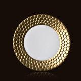 Aegean 24kt Gold Sculpted Dessert Plate 9