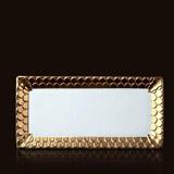 Aegean 24kt Gold Rectangular Platter 15.5