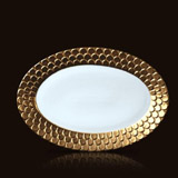 Aegean 24kt Gold Oval Platter | Gracious Style
