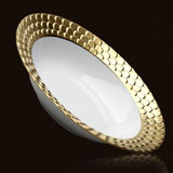 Aegean 24kt Gold Rimmed Serving Bowl 14