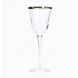 Optical Platinum Wine Glass | Gracious Style