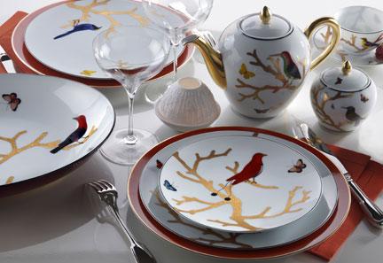 Aux Oiseaux Dinnerware from Bernardaud