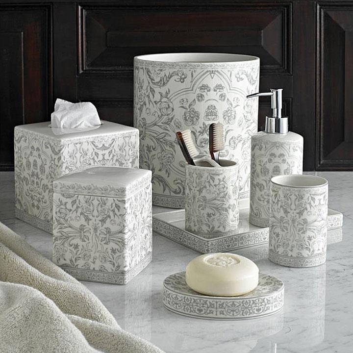 kassatex orsay grey bath accessories gracious style