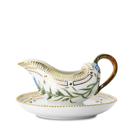 Flora Danica Sauce Boat with Stand