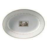 Impero Fiesole Oval flat platter 13 in | Gracious Style