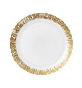 Rufolo Glass Gold Salad Plate | Gracious Style