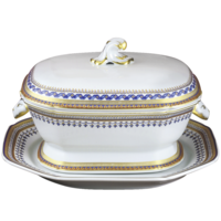 Chinoise Blue Tureen And Platter | Gracious Style