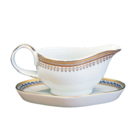 Chinoise Blue Gravy Boat And Stand | Gracious Style