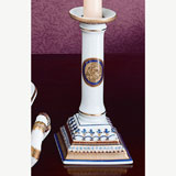 Chinoise Blue Candlesticks Pair 6 In | Gracious Style