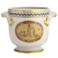 Chinoise Blue Cachepot Large 7.5 X 7 In | Gracious Style