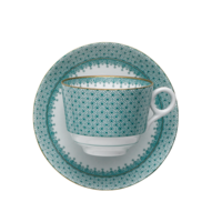 Green Lace Tea Cup & Saucer | Gracious Style