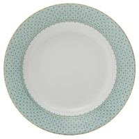 Green Lace Rim Soup Plate  | Gracious Style